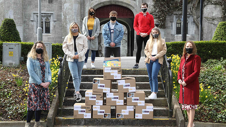 """NUI Galway students """"Build Boxes"""" to support the vulnerable"""